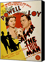 Postv Photo Canvas Prints - After The Thin Man, Myrna Loy, Asta Canvas Print by Everett