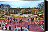 Bethesda Fountain Canvas Prints - Afternoon at the Bethesda Fountain Canvas Print by Randy Aveille