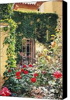 Robinson Canvas Prints - Afternoon In The Rose Garden Canvas Print by David Lloyd Glover
