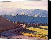 Rural Scenes Canvas Prints - Afternoon light Kanimbla valley Canvas Print by Graham Gercken