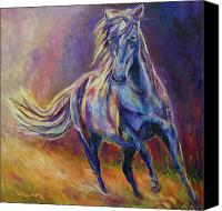 Williams Painting Canvas Prints - Afternoon Light on Blue Horse Canvas Print by Diane Williams