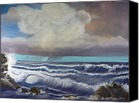 Storm Clouds Pastels Canvas Prints - Afternoon Squall Canvas Print by James Geddes