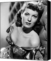 1950s Movies Canvas Prints - Against All Flags, Maureen Ohara, 1952 Canvas Print by Everett