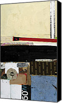 Raw Mixed Media Canvas Prints - Against The Grain Canvas Print by Michel  Keck
