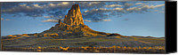 Peak One Canvas Prints - Agathla Peak The Basalt Core Of An Canvas Print by Tim Fitzharris