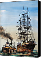 Tugboat Canvas Prints - Age of Steam and Sail Canvas Print by James Williamson