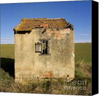 Run Down Canvas Prints - Aged hut in Auvergne. France Canvas Print by Bernard Jaubert