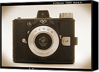 Film Camera Canvas Prints - Agfa Clack Camera Canvas Print by Mike McGlothlen