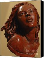 Women Sculpture Canvas Prints - Aglow Canvas Print by Wayne Headley