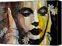 Lips  Painting Canvas Prints - Agony and Ecstasy Canvas Print by Paul Lovering