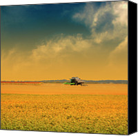 Gulf Coast States Canvas Prints - Agricultural Landscape At Sunrise Canvas Print by Photo by Jim Norris
