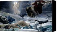 Naked Painting Canvas Prints - Ahasuerus at the End of the World Canvas Print by Adolph Hiremy Hirschl