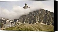 Mountain Scene Canvas Prints - Aiguille Du Dru In Mont Blanc Massif Canvas Print by David Pérez