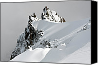 Beauty Canvas Prints - Aiguille Du Midi Canvas Print by Ellen van Bodegom