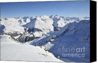 Winter Canvas Prints - Aiguilles de la Grande Sassiere Canvas Print by Andy Smy