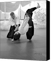 Martial Arts Canvas Prints - Aikido Wrist Lock  Canvas Print by Frederic A Reinecke