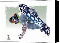 Snowboard Canvas Prints - Air Born for Gold Canvas Print by Scott Weigner