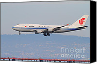 Airways Canvas Prints - Air China Airlines Jet Airplane At San Francisco International Airport SFO . 7D12272 Canvas Print by Wingsdomain Art and Photography