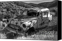 Rusted Cars Canvas Prints - Air Conditioned By Bullet Canvas Print by Bob Christopher