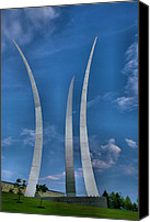 Battles Canvas Prints - Air Force Memorial IV Canvas Print by Steven Ainsworth