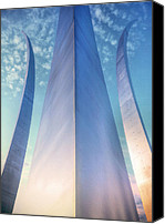 4th July Canvas Prints - Air Force Memorial Canvas Print by JC Findley