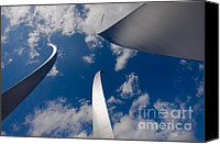 Cloudscape Canvas Prints - Air Force Memorial Canvas Print by Louise Heusinkveld