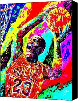 Mike Painting Canvas Prints - Air Jordan Canvas Print by Mike OBrien