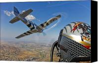 Horsemen Canvas Prints - Airborne With The Horsemen Aerobatic Canvas Print by Scott Germain
