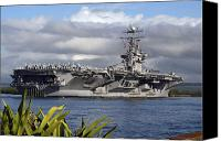 Abraham Lincoln Photo Canvas Prints - Aircraft Carrier Uss Abraham Lincoln Canvas Print by Stocktrek Images