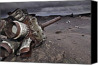 21st Century Canvas Prints - Aircraft Wreckage Canvas Print by Robbie Shone