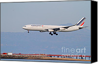 Airways Canvas Prints - Airfrance Airlines Jet Airplane At San Francisco International Airport SFO . 7D12219 Canvas Print by Wingsdomain Art and Photography