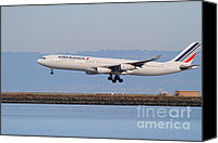 Airways Canvas Prints - Airfrance Airlines Jet Airplane At San Francisco International Airport SFO . 7D12223 Canvas Print by Wingsdomain Art and Photography