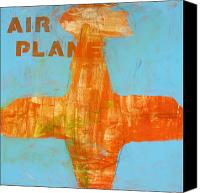 Airplane Painting Canvas Prints - Airplane Canvas Print by Laurie Breen