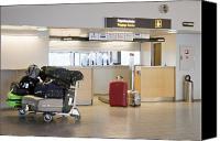 Airport Concourse Canvas Prints - Airport Baggage Area Canvas Print by Jaak Nilson