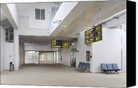 Airport Terminal Canvas Prints - Airport Concourse Canvas Print by Jaak Nilson