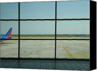 Airport Terminal Canvas Prints - Airport Departure Area Canvas Print by David Buffington
