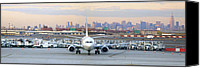 Taxi Canvas Prints - Airport Overlook the Big City Canvas Print by Mike McGlothlen