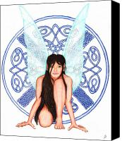 Fantasy Drawings Canvas Prints - Airwen Canvas Print by Gary James Frazey