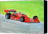 Racing Number Canvas Prints - AJ Foyt - Milwaukee 1977 Canvas Print by William  Homeier