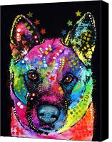 Dog Canvas Prints - Akita 1 Canvas Print by Dean Russo