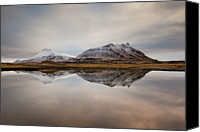 Mountain Scene Canvas Prints - Akrafjall, Icelandic Mountain Canvas Print by Johann S. Karlsson