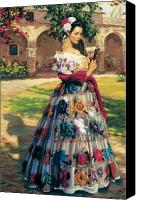 Background Canvas Prints - Al Aire Libre Canvas Print by Jean Hildebrant