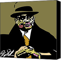 Popstract Canvas Prints - Al Capone full color Canvas Print by Kamoni Khem