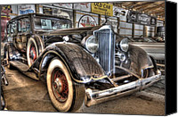 2012 Digital Art Canvas Prints - Al Capones Car Canvas Print by Nicholas  Grunas