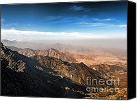 Saudi Canvas Prints - Al Hada Road in Taif Canvas Print by Graham Taylor
