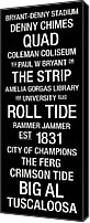 Bus Roll Canvas Prints - Alabama College Town Wall Art Canvas Print by Replay Photos