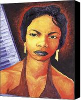 Nina Simone Canvas Prints - Alabamas Got Me So Upset Canvas Print by Marcus Anderson