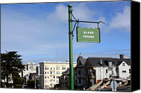 Guidance Canvas Prints - Alamo Square Canvas Print by Luiz Felipe Castro