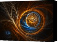 Psychedelic Space Art Canvas Prints - Albatross Canvas Print by Tammy Wetzel