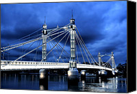 Albert Canvas Prints - Albert bridge London Canvas Print by Jasna Buncic